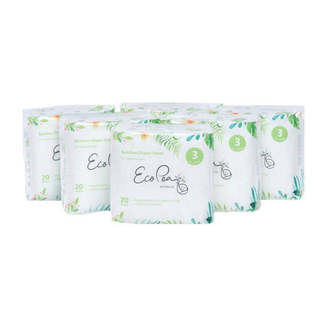 6 Packs of Bamboo Training Diapers