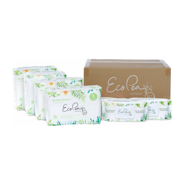 6 Packs of Bamboo Diapers + 12 Packs of Bamboo Wipes