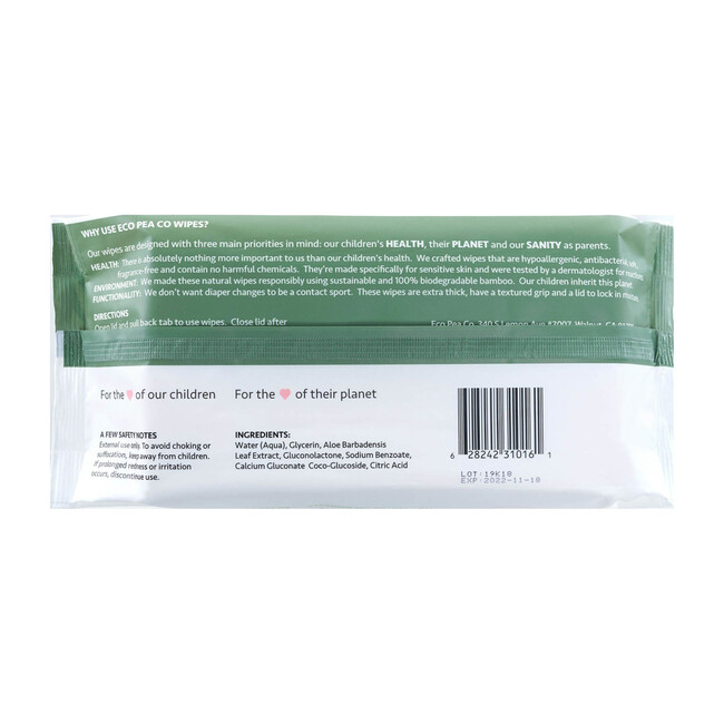 12 Packs of Bamboo Wipes