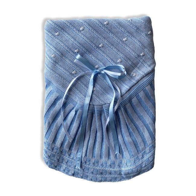 Take Me Home Bundle, Blue Knitted 3-Piece Set & Blanket