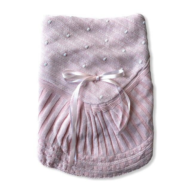 Take Me Home Bundle, Pink Knitted 3-Piece Set & Blanket