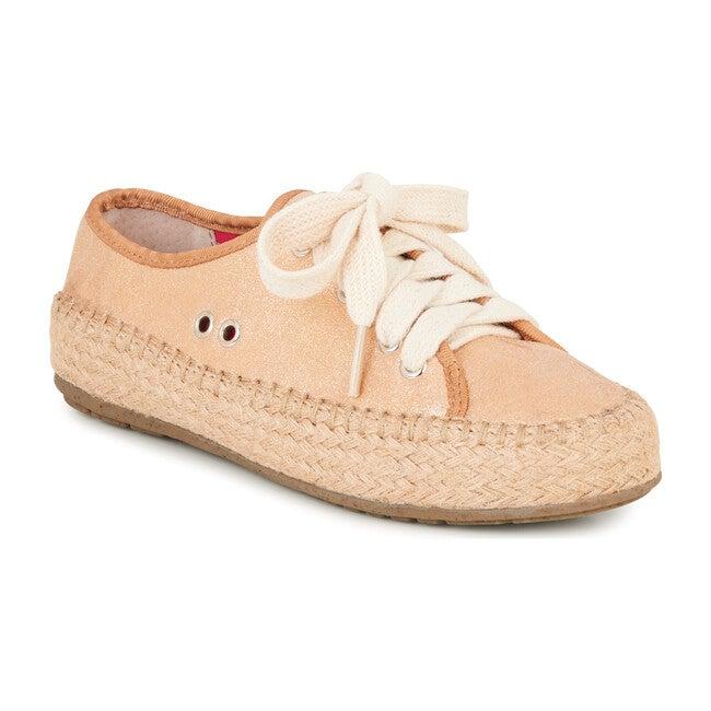 Agonis Teen Espadrille Sneaker, Metallic Rose Gold - Sneakers - 1
