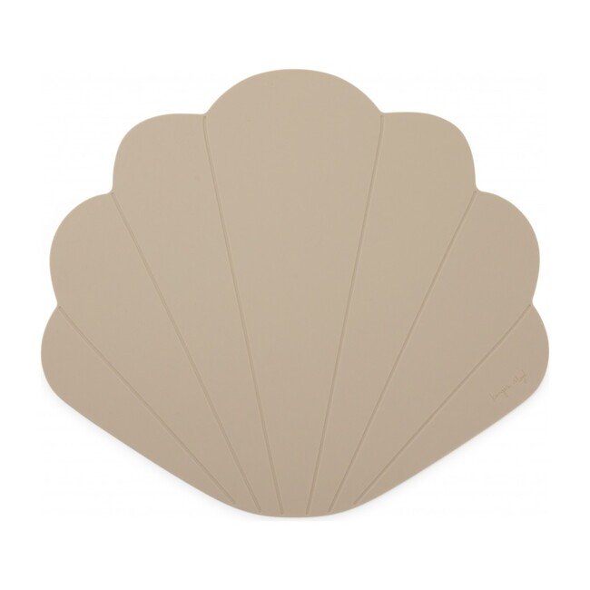 Silicone Placemat Clam, Warm Grey
