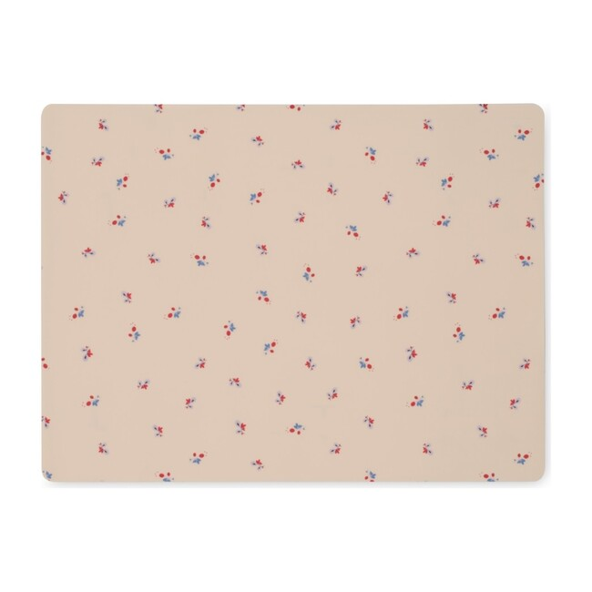 Placemat Silicone, Bloom Red/Blue