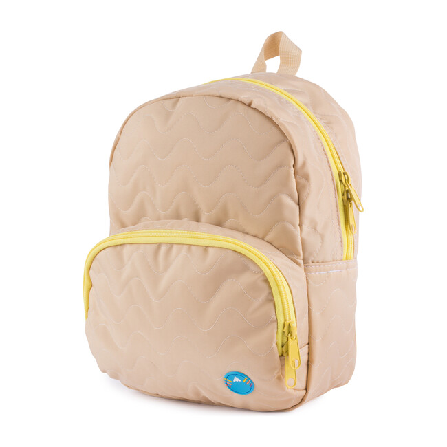 Quilted Mini Backpack, Tan