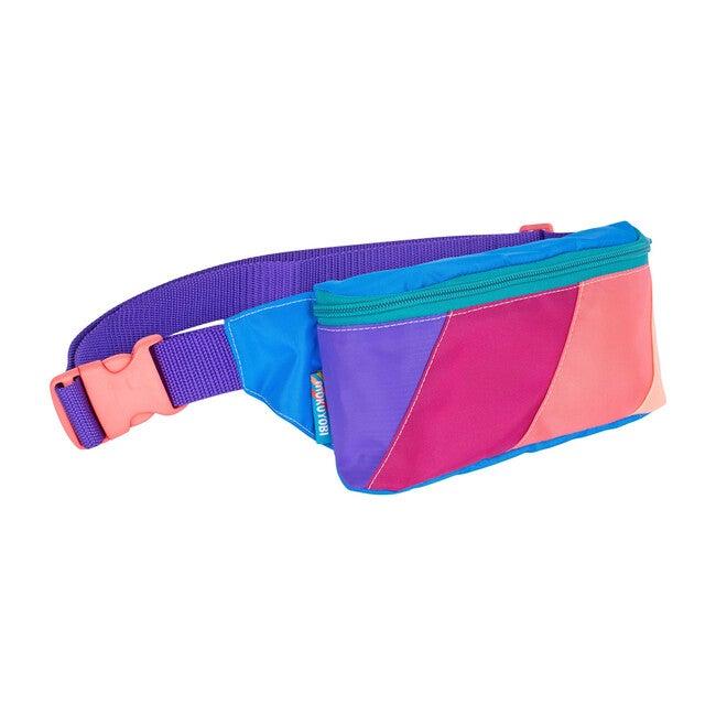 Color Block Fanny Pack, Blue Melon - Bags - 1