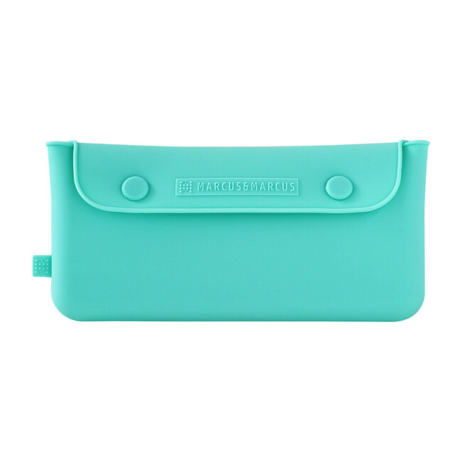 Silicone Cutlery Pouch - Blue
