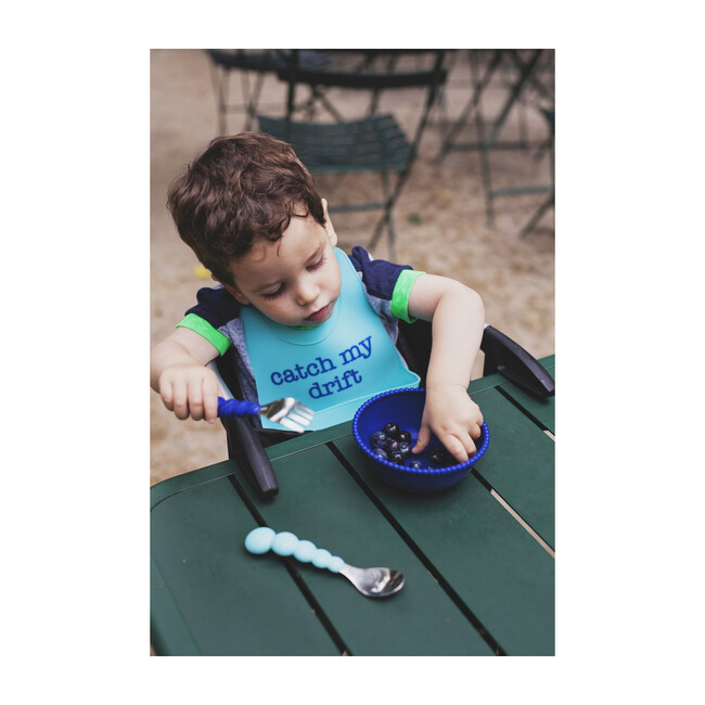 Silicone and Stainless Steel Flatware, Boy
