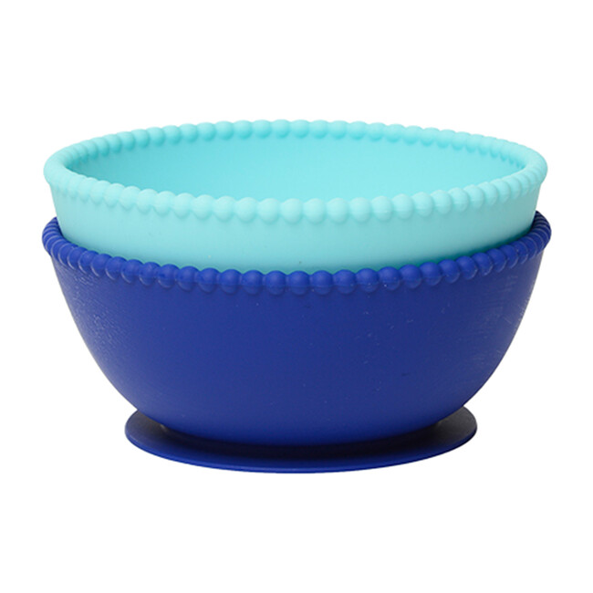 Silicone Suction Bowls, Turquoise/Cobalt - Tabletop - 0
