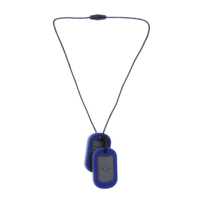 Kids Silicone Military Tags, Blue