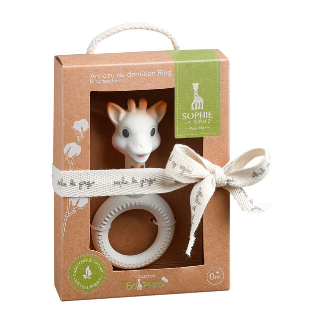 So'Pure Sophie Ring Toy, Natural