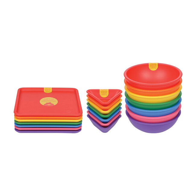 21-Piece Dinnerware Set: Rainbow Assortment