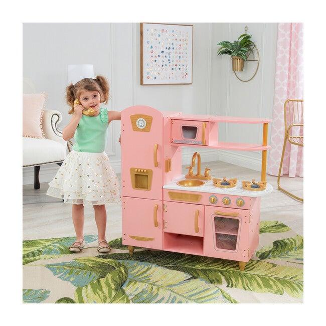 Limited Edition Vintage Kitchen, Pink/Gold