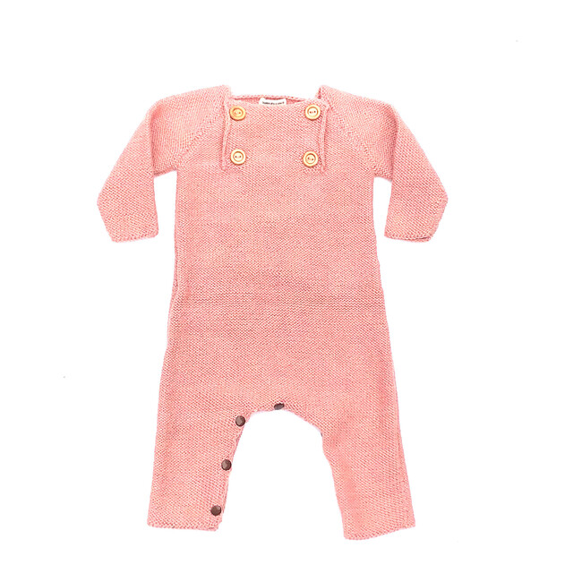 4 Button Romper, Pink