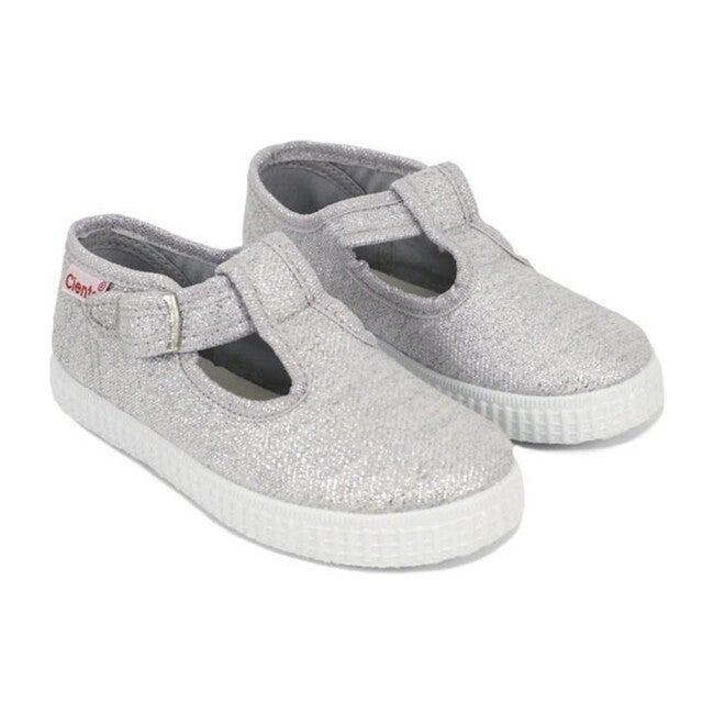 Buckle Sneakers, Silver
