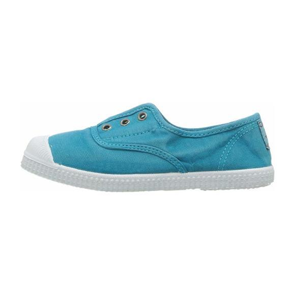 Distressed Canvas Slip On, Washed Turquoise