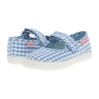 Canvas Mary Jane, Blue Gingham