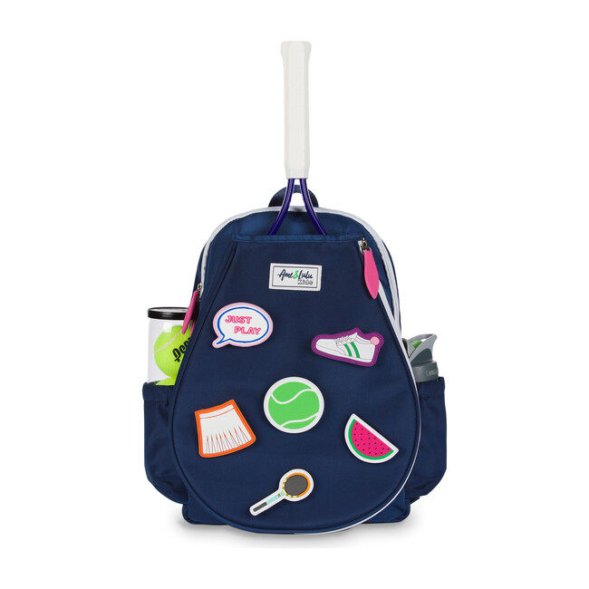Navy/Pink Little Patches Tennis Backpack