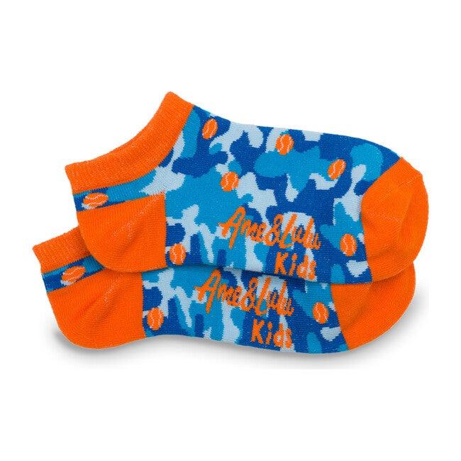 Happy Feet Socks, Blue Camo