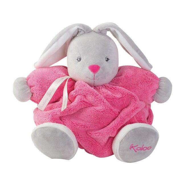 Medium Plume Chubby Rabbit, Raspberry
