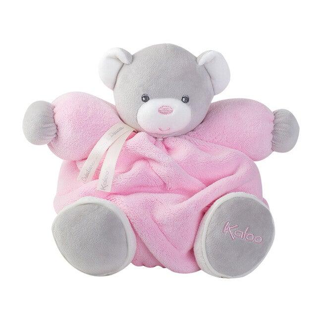 Medium Plume Chubby Bear, Pink