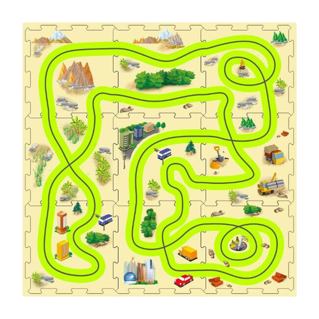 Glow-In-The-Dark Puzzle Mat - Transportation - 1