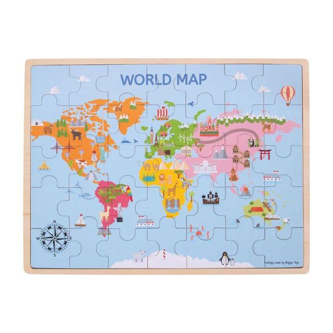 35-Piece World Map Puzzle