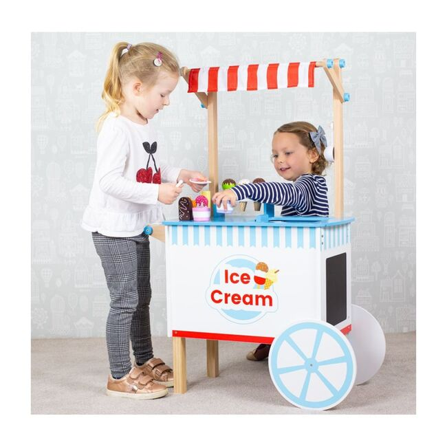 Wooden Ice Cream Cart
