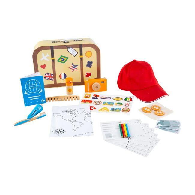 Wooden Toy Suitcase & Travel Essentials