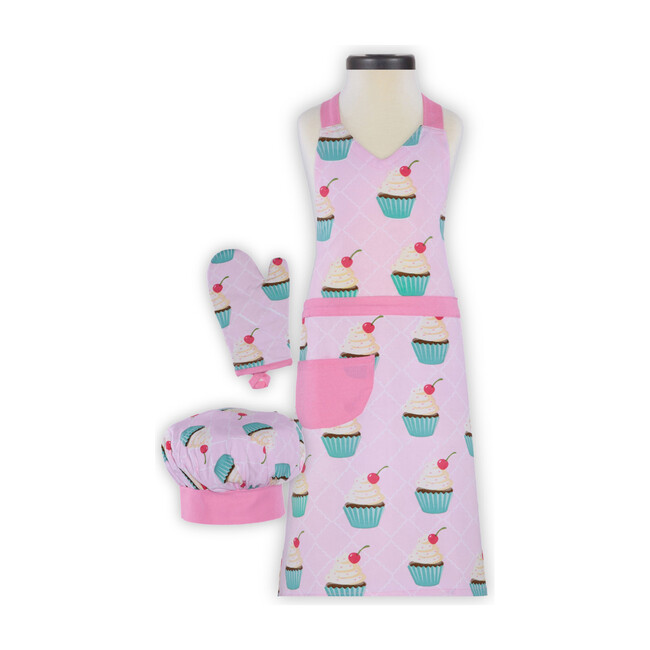 Cupcake Deluxe Child Apron Boxed Set