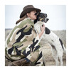 Camouflage Throw, Flax/Loden - Throws - 2