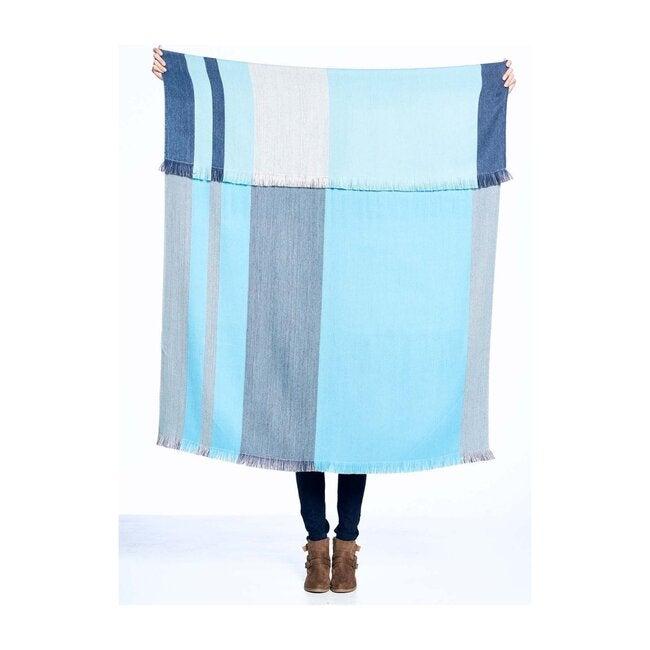Reversible Alpaca Throw Blanket, Cool Agave