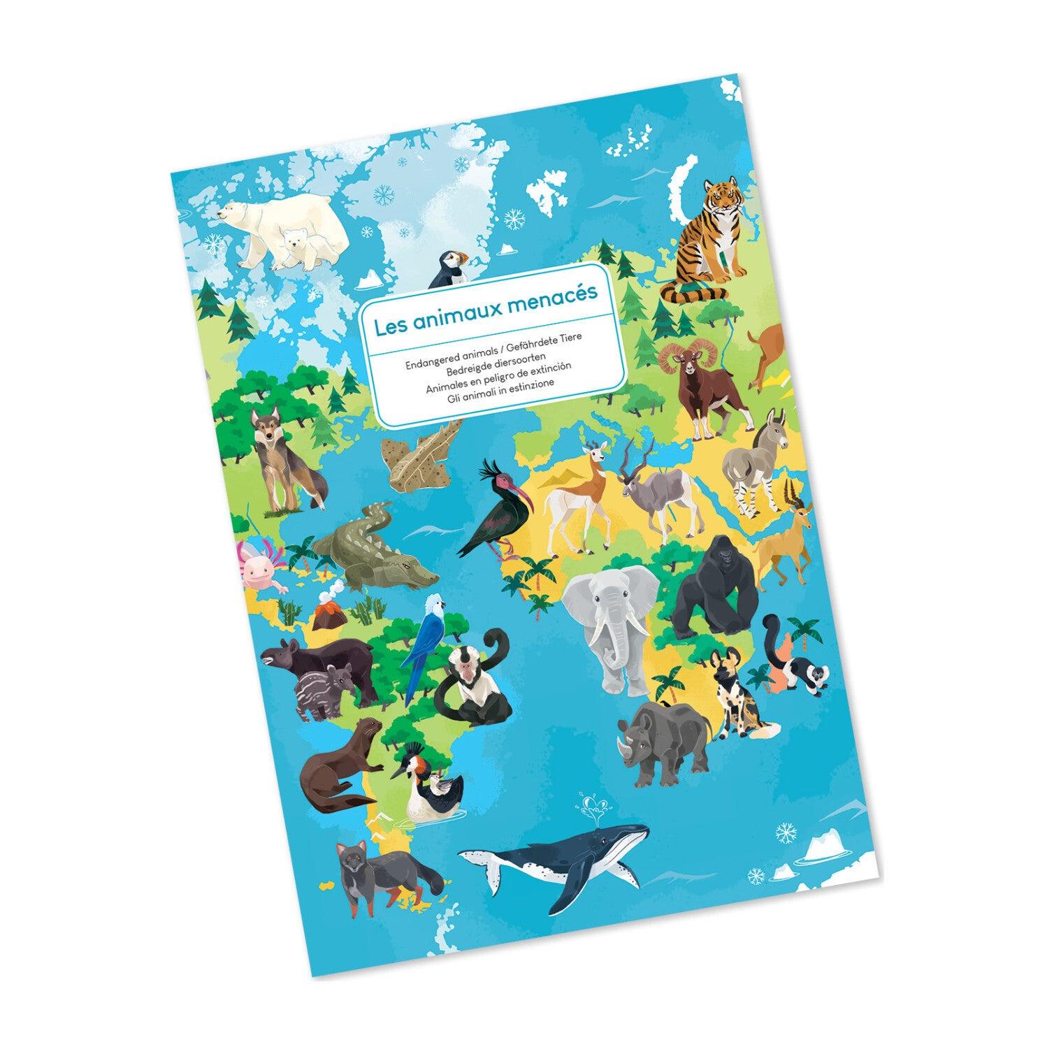 Endangered Animals 200-Piece Educational Puzzle