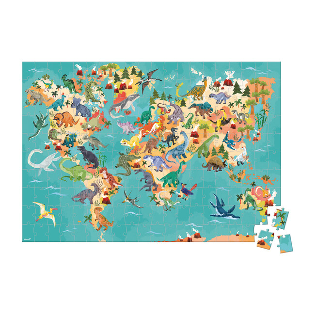 Dinosaurs 200-Piece Educational Puzzle