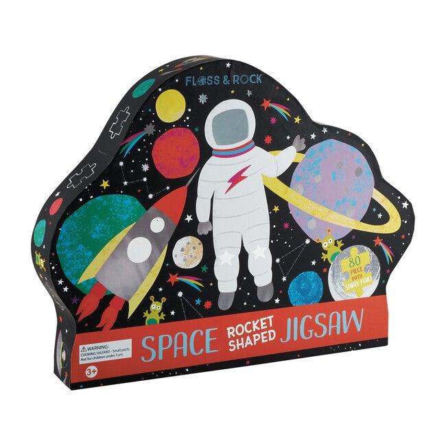 Space Rocket Shaped 80-Piece Puzzle
