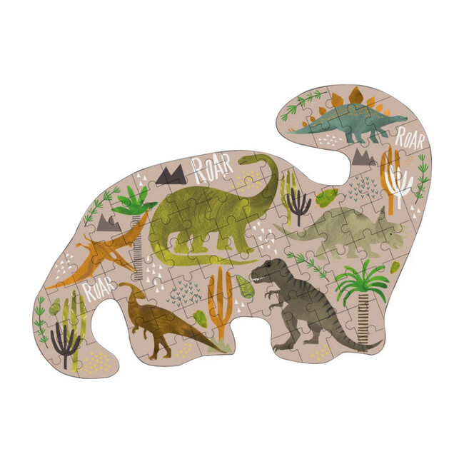 Dinosaur Dino Shaped 80-Piece Puzzle