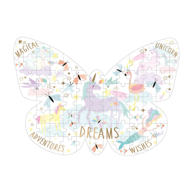 Fantasy Butterfly Shaped 80-Piece Puzzle