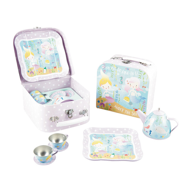 Mermaid Tin Tea Party Set