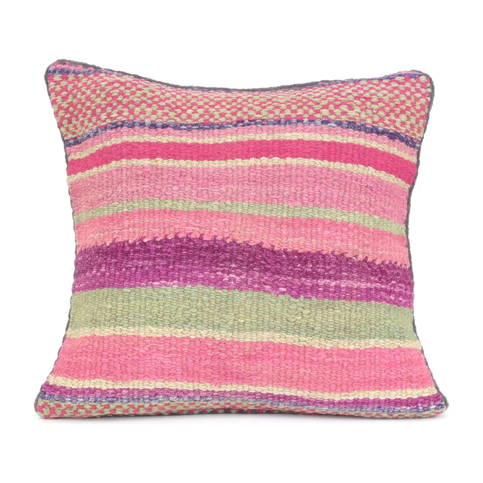Heirloom Square Pillow Checked Pastel Home Decor Decorative Pillows Throws Maisonette