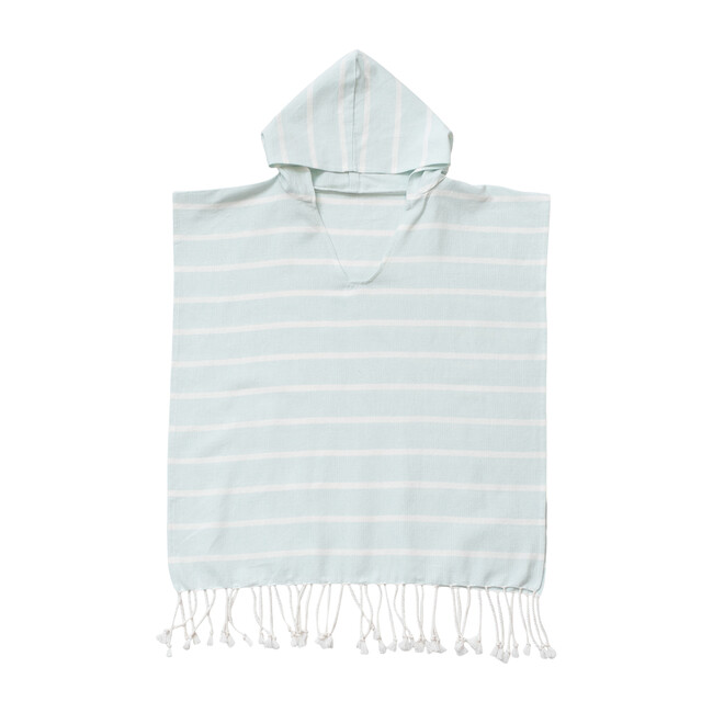 Bondi Organic Cotton Kids Poncho, Seaside Blue