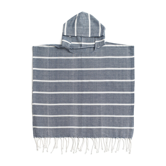 Bondi Organic Cotton Kids Poncho, Navy