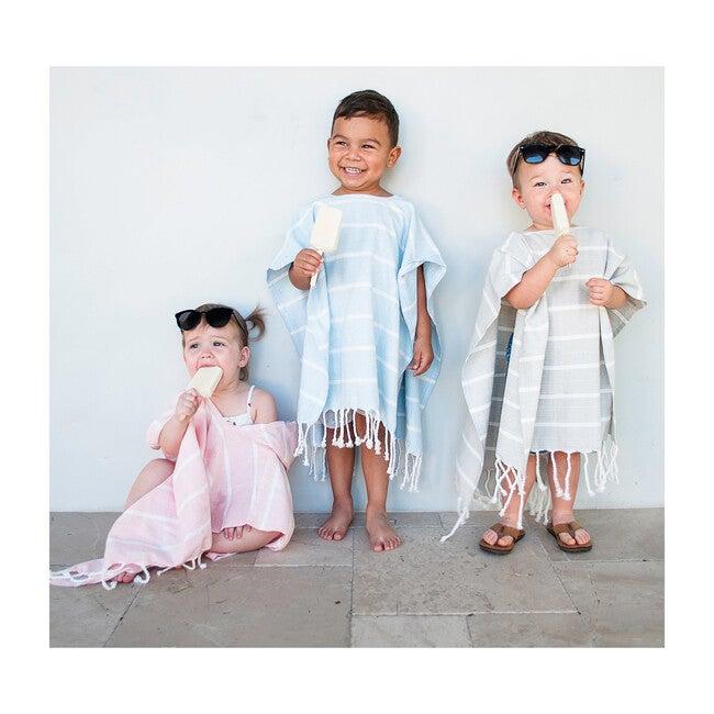 Bondi Organic Cotton Kids Poncho, Mist