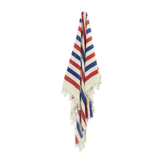 Colorblock Striped Throw, Patriotic