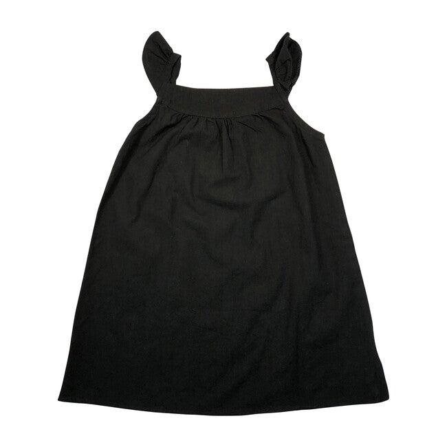 Ruffle Strap Otomi Sundress, Black/Multi