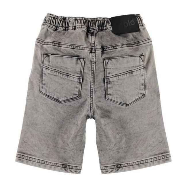 Stonewash Denim Shorts, Gray