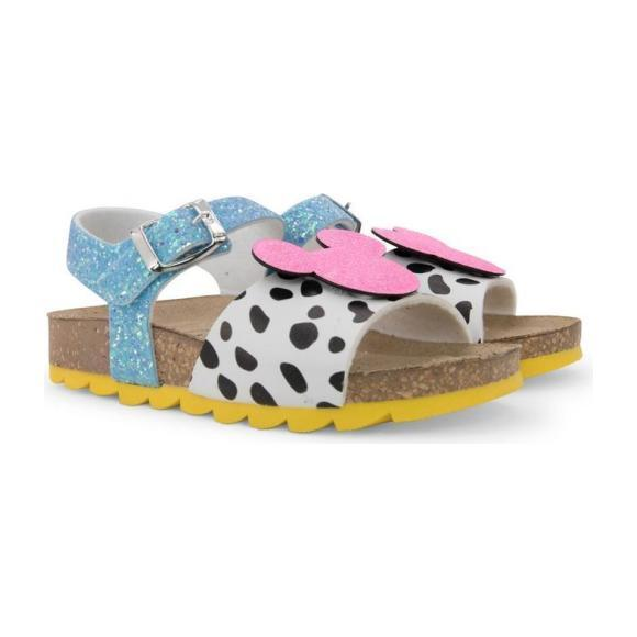 Mickey Logo Dalmatian Print Sandals, Pink