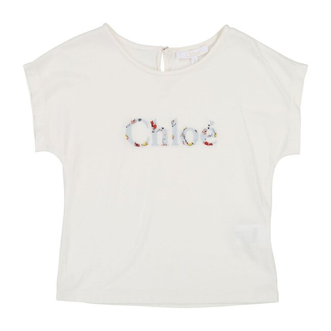 Floral Logo Short Sleeve T-shirt, White