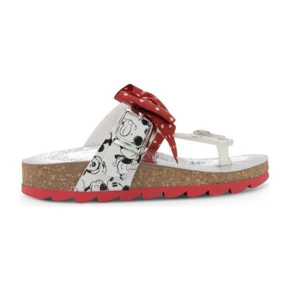 Bow Mickey Mouse Print Sandals, Red