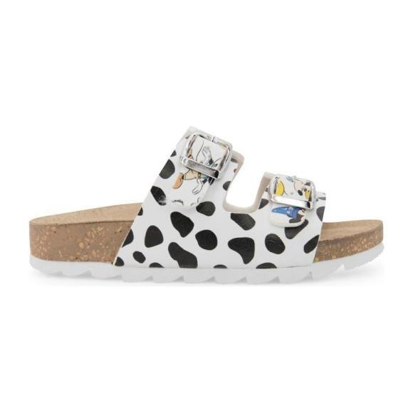 Disney Dalmatian Print Sandals, White