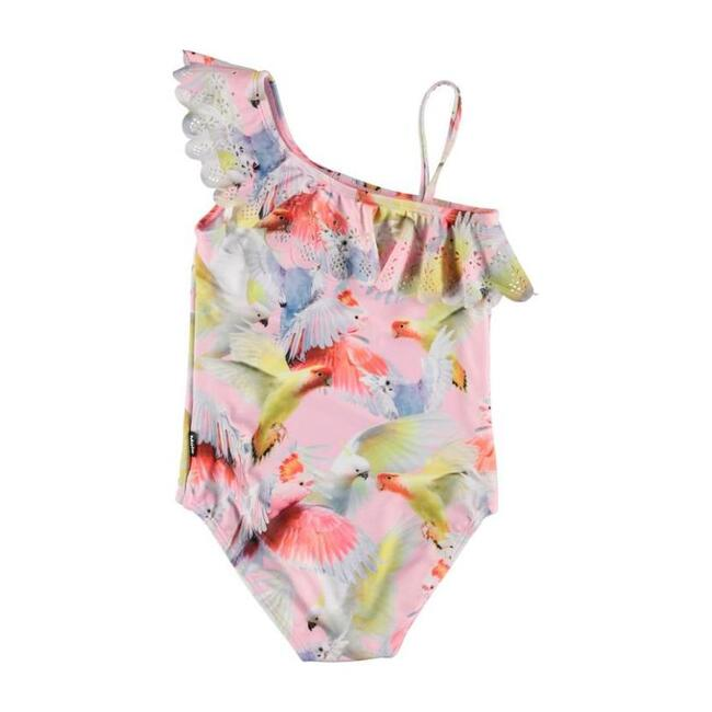 Cockatoos Net Swimsuit, Pink